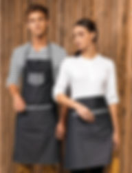 Two tone denim apron