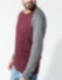 Organic two tone sweatshirt
