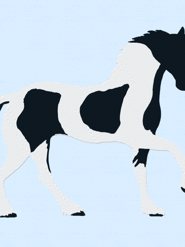 Piebald Horse Embroidery