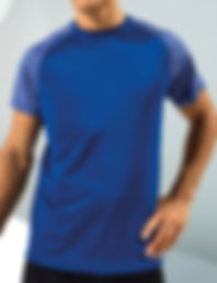 Contrast sleeve performance t-shirt