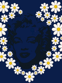 Marilyn Monroe & Daisies Embroidery