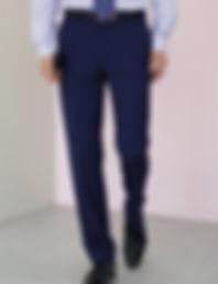 Flat front suit trousers