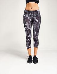 Printed 3/4 length leggings