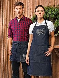 Denim jeans apron