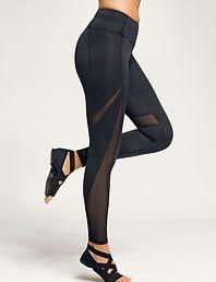 Mesh panel leggings