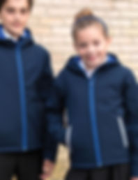 Children's hooded softshell