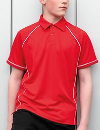 Children's piped sports polo