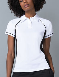 Women's piped sports polo