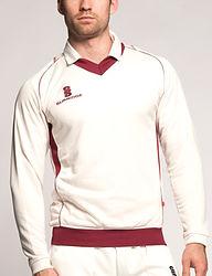 Fleece lined cricket sweater