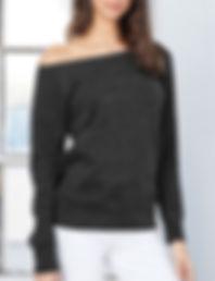 Wide neck sweatshirt