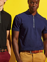 Quarter zipped polo