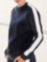 Contrast taped sleeve sweatshirt