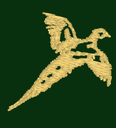 Flying Pheasant Embroidery