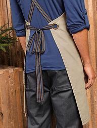 Cross strap apron