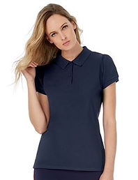 Women's gathered sleeve polo