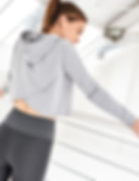 Cross-over back hoodie