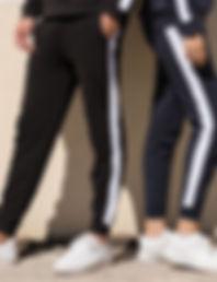 Unisex contrast joggers
