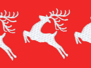 Five leaping Deer Embroidery