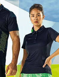 Women's performance panelled polo