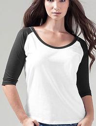 Women's 3/4 contrastraglan sleeve t-shirt