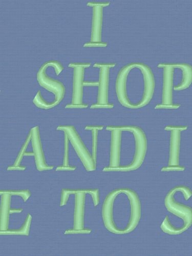 Shopping Words Embroidery