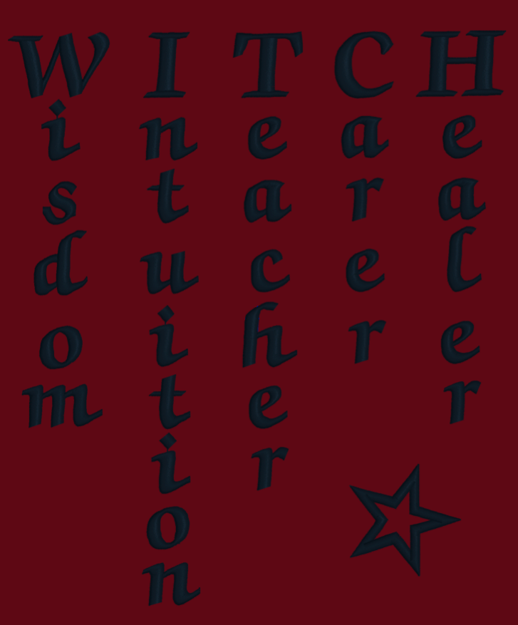 Witch Words Embroidery