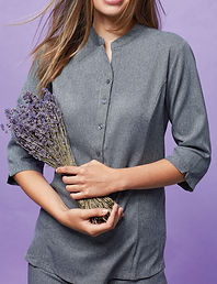 Full buttoned tunic