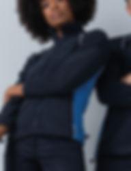 Women's piped microfleece zip through jacket