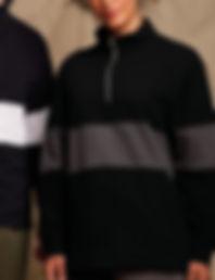 Panelled 3/4 zip sweatshirt