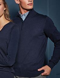 Quarter zipped sweater
