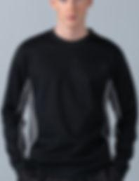 Contrast piped panel sweatshirt