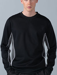 Contrast piped panel sweatshirt
