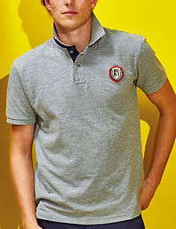 Contrast placket polo