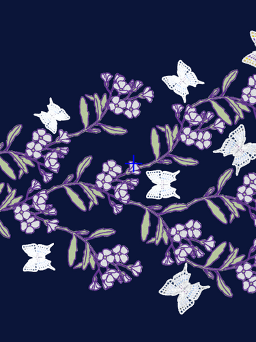 Blossom and Butterfly Embroidery