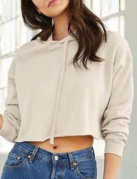Women's cropped hoodie sweatshirt