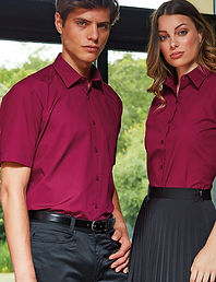 Coloured poplin shirts