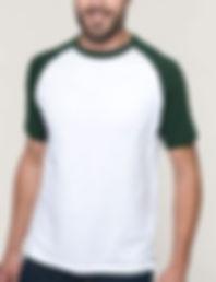 Baseball contrast t-shirt