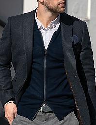 Men's zipped cardigan
