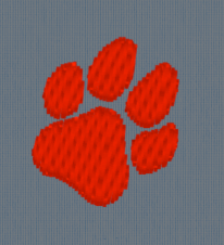 Paw Print Embroidery.