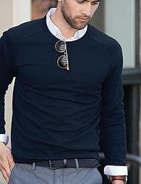 Men's fine knit jumper