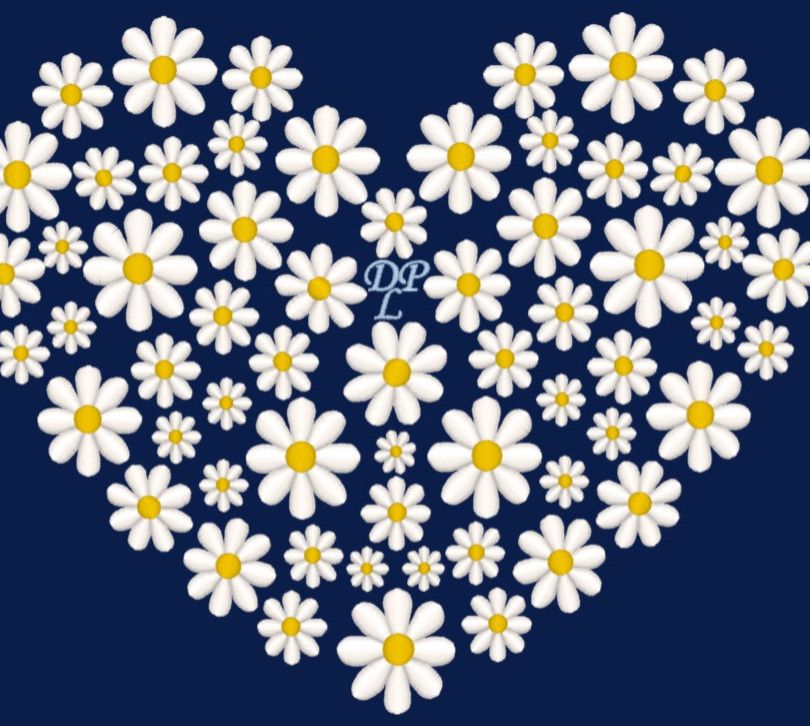 Heart of Daisies Embroidery