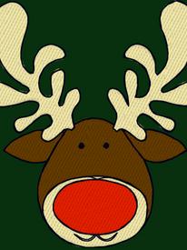 Deer Head Embroidery