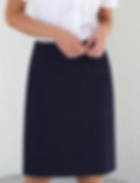 Tailored straight skirt