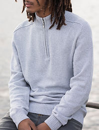 Eco quarter zipsweater