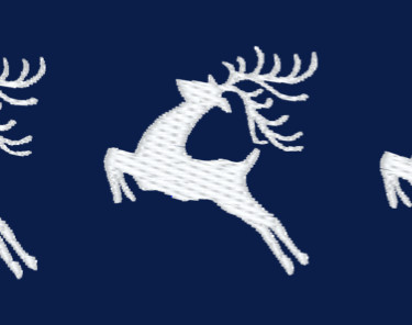 Three leaping Deer Embroidery