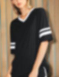 Unisex v-neck football t-shirt