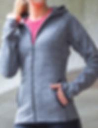 Micro-fleece hoodie