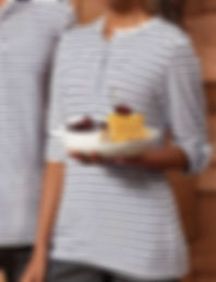 Women's roll sleeve striped t-shirt