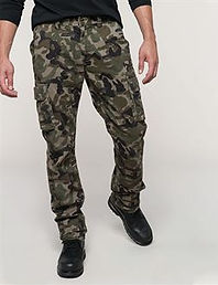 Camo cargo trousers