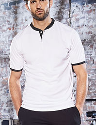 Stand collar sports polo